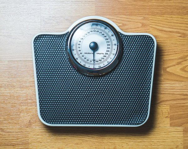 Set of weighing scales to help people lose weight and stay in shape
