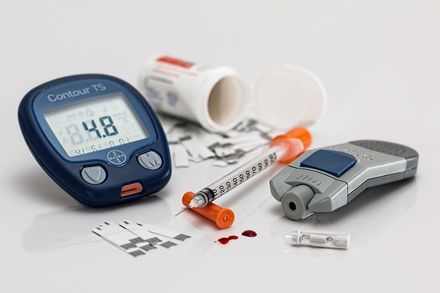Selection of diabetic testing supplies
