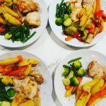 chicken and vegetable traybake recipe